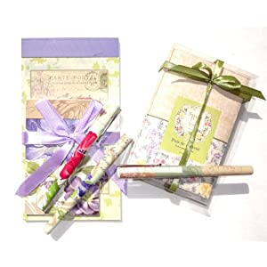 Mothers Day Pamela Gladding 8 Piece Gift Set Shabby Chic Sweet Pea Pamela Gladding Notebooks, Pens, Sachets