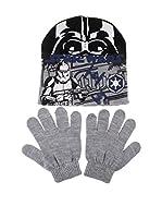 Star Wars Conjunto Gorro y Guantes Storm Trooper (Gris)
