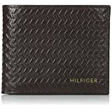 Billetera Tommy Hilfiger Albert para hombre, de doble compartimiento, color chocolate, tamaño único.