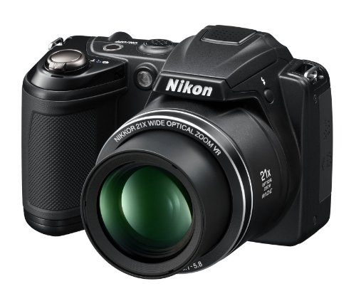 Nikon COOLPIX L310 Compact Digital Camera - Black (14.1MP, 21x Optical Zoom) 3 inch LCD