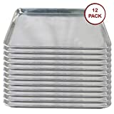 Tiger Chef Full Size Aluminum Sheet Pan - Commercial Bakery Equipment Cake Pans - NSF Approved 1 Dozen (12, 18