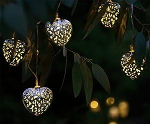 Guirlande lumineuse solaire lampes led pour jardin avec for Guirlande lumineuse solaire exterieur