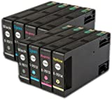 The Ink Squid 2 Sets Of T7011 T7012 T7013 T7014 (T7015 'Pyramid' Xxl) Very High Capacity Compatible Ink Cartridges For Epson Workforce Pro Wp-4535Dwf Printer