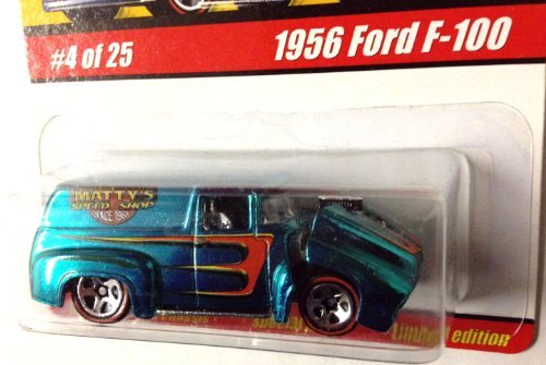 1956 Ford F-100 / Blue-Green / HOT WHEELS CLASSICS Series 1 / #4 OF 25 / 1:64 Scale Die-Cast Collectible / 2004