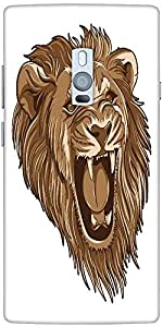 Snoogg Vector Lion Solid Snap On - Back Cover All Around Protection For Onepl...