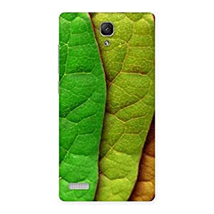 Enticing Leaf Pattern Multicolor Back Case Cover for Redmi Note 4