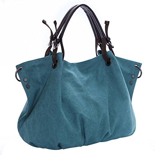 borsa di tela Ms./Grandi borse moda capacità/borsetta/Messenger Bag/borsa a tracolla-D