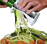 1 X VAlinks(TM) Kitchen Must-have Accessory - High Quality Spiral Vegetable Slicer, Perfect Veggie Pasta/Spaghetti Maker - a Safe and Fast Solution to Slice Vegetable Without Worrying About Cutting Your Fingers