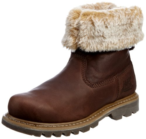 Cat Footwear Women's Bruiser Scrunch Leather Chocolate Ankle Boots P304824 6 UK