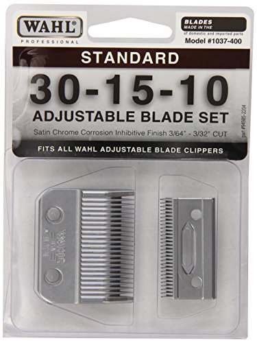 1037-400 Standard Adjustable Replacement Blade Set, 30-15-10 Standard by Wahl Professional Animal (Clipper Blades Wahl compare prices)