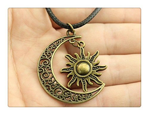 crescent-moon-sun-star-leder-kette-halskette-new-fashion-frauen-schmuck-halskette