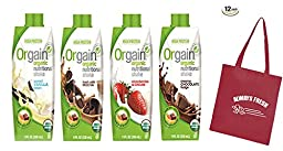Orgain Nutritional Shakes Variety Pack 11-oz. (Count of 12) with Free Always FreshTM Tote Bag Included
