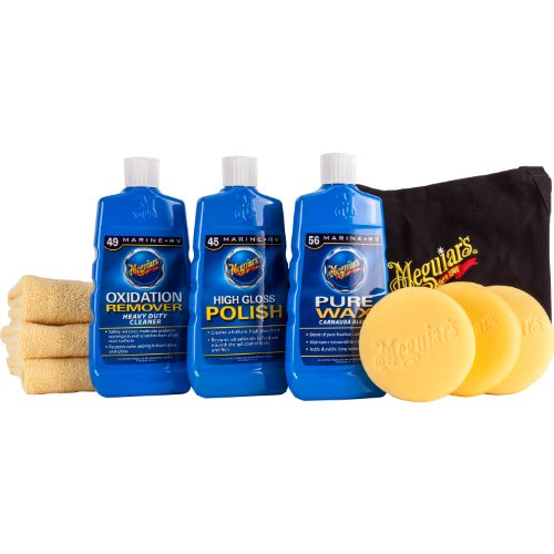 Top products best review meguiar 39 s m4966 complete marine rv fiberglass restoration kit for Best interior car care products