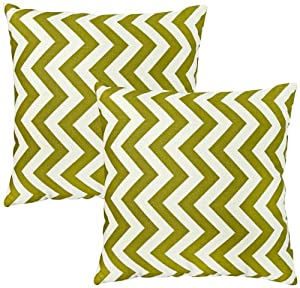 Greendale Home Fashions Toss Pillows, Zig Zag, Village Green, Set of 2