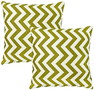 Greendale Home Fashions Toss Pillows, Zig Zag, Village Green, Set of 2
