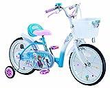 アイデス (ides) アナと雪の女王 16インチ Disney princess 子ども用 キッズ 自転車 幼児車 補助車 カゴ 宝石 バルブキャップ スポークアクセサリー付き キラキラ 水色 16インチ
