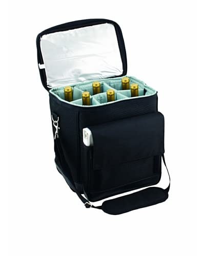 Picnic Time Cellar Insulated Six Bottle Wine Tote