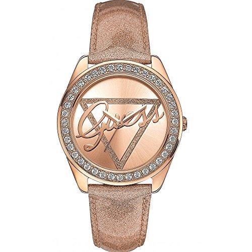 Guess Damen-Armbanduhr Analog Quarz Leder W0023L4