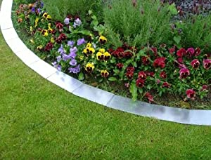 Metal lawn edging silver garden outdoors - Garden metal edging strip ...