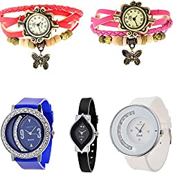 KITCONE Analogue Multicolor Dial Watch Combo Womens watches (dd-7)