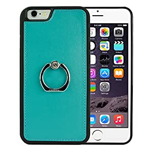 iPhone 6S Plus Case, iPhone 6 Plus Case, caseen® STRETTA TPU Leather Hybrid Case Cover (Teal Green) Ring Grip Ultra Flexible Thin Slim for Apple iPhone 6S Plus and iPhone 6 Plus