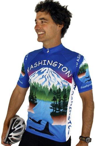 Buy Low Price Washington Short Sleeve Cycling Jersey (B008VMVSQ4)