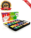 Watercolor Paint Set - The Best Artist Kit of 24-Color Paint - For Kids Adults Beginners and Professionals - Extra Light Travel Case - Brush in the Kit - Opaque Pan Set - Create Great Painting on Paper - High Quality - Money Back Guarantee