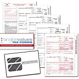 Tangible Values 1099 Misc Laser Forms (4-Part) Kit with Envelopes for 25 Individuals (2015)