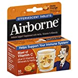 Airborne Immune Support Supplement, Effervescent Tablets, Zesty Orange, 10 tablets