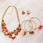 Coral 3 Piece Jewelry Set