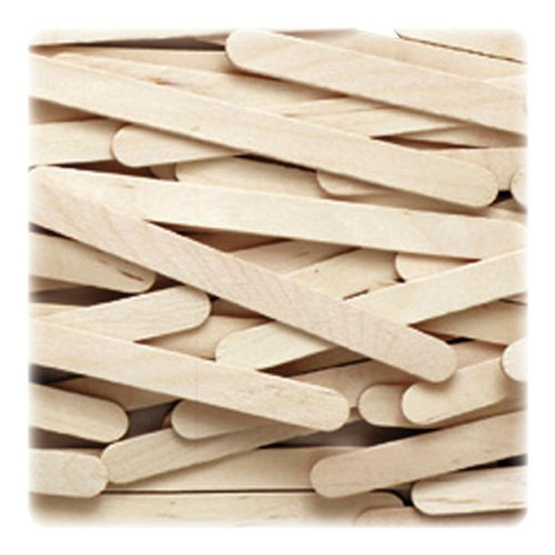 Chenille Kraft 377401 Natural Wood Craft Sticks, 4 1/2 x 3/8, Wood, Natural, 1000/Box (CKC377401) - 1