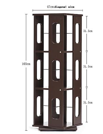 ZCJB Scaffale Di Massa Multifunzionale Dello Scaffale Di Scaffale Dello Scaffale Per Libri Dello Scaffale Del Pavimento Di Rotazione Di 360 Gradi Facoltativo Facoltativo ( Colore : Marrone )