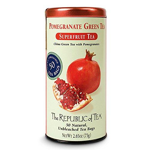The Republic of Tea, Pomegranate Green Tea, 50-Count
