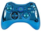 GM Master Mod BLUE CHROME Metal Thumbsticks, Trigger Stops, Bullet Buttons, Quickscope, drop shot, Rapid fire for Black Ops 2 Xbox 360 Modded Controller COD Ghost, MW3, Black Ops 2, Rapid fire mod