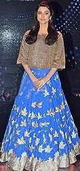 Shree Ganesh Women's Designer Multi-Coloured Silk Semi-Stitched Lahenga Choli [L54dhoom_Multi-Coloured]