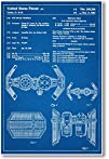 Star Wars Tie Bomber Patent  NEW Famous Invention Blueprint