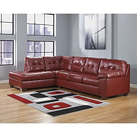 Ashley Alliston DuraBlend 2 Piece Left Corner Sectional in Salsa