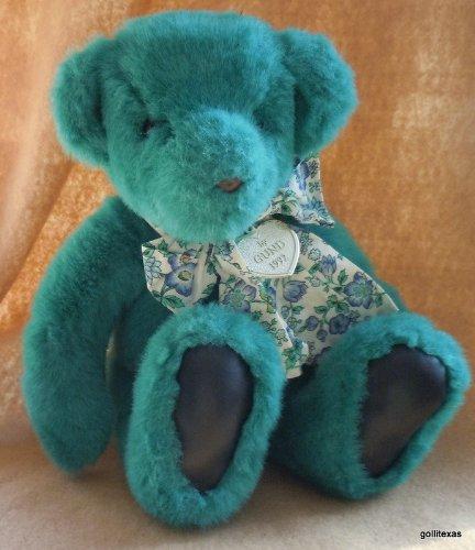 "Gund Bear for Victoria's Secret 1992 11"" Sitting Teal Green"