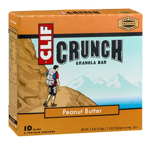 Clif Crunch Organic Peanut Butter Bar (12X5-1.5Oz) ( Value Bulk Multi-Pack)