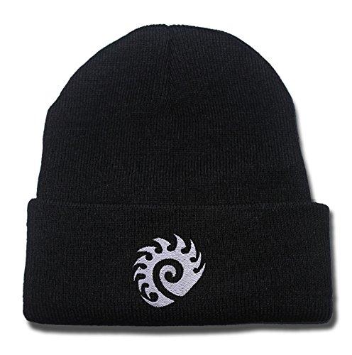 Starcraft Zerg Logo Beanie Fashion Unisex Embroidery Beanies Skullies Knitted Hats Skull Caps