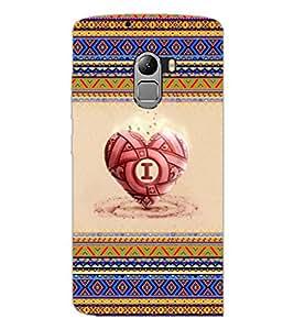 PrintDhaba Heart D-4039 Back Case Cover for LENOVO VIBE K4 NOTE (Multi-Coloured)