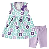 Hudson Baby Baby Dress and Cropped Legging Set, Purple Sand Dollar, 3-6 Months Size: 3-6 Months Color: Purple Sand Dollar, Model: 55115M, Newborn & Baby Supply