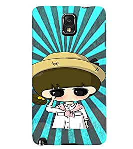 Fuson Premium Sweet Girl Printed Hard Plastic Back Case Cover for Samsung Galaxy Note 3 N9000