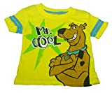 Scooby Doo Little Boys' Scooby Mr Cool Fashion Top with Striped Sleeves, Yellow, 4T