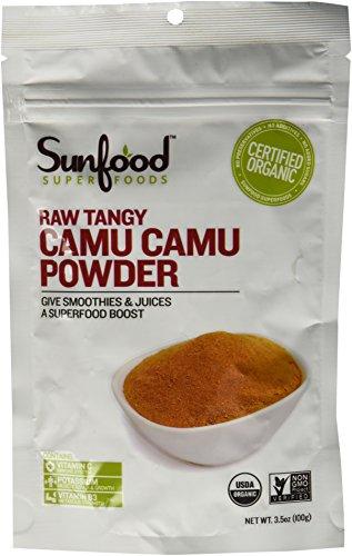 Tangy Camu Camu Powder Sunfood 3.5 oz Bag