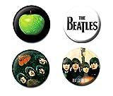 The Beatles Official 4 Button / Pin Set