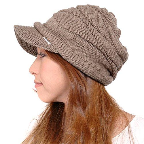 (カジュアルボックス)CasualBox ゆったりデザイン編みニットキャスケット 10色 56-64cm ニット帽 キャップ メンズ レディース Charm チャーム (ベージュ)