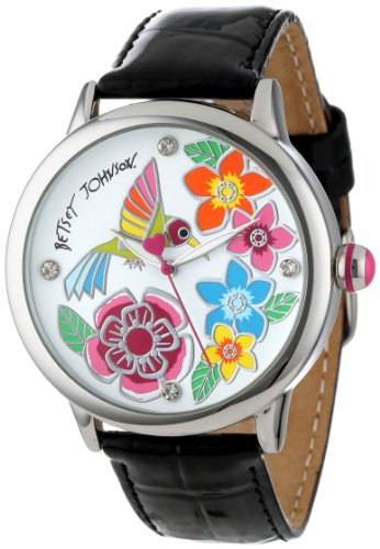 Betsey Johnson Women's BJ00084-25 Analog Hummingbird Dial Watch