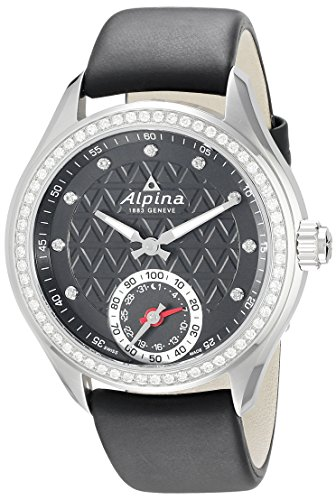 Alpina-Womens-AL-285BTD3CD6-Horological-Smart-Analog-Display-Swiss-Quartz-Black-Watch