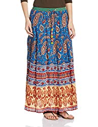 Rain and Rainbow Women's Skirt (SK-600-SS/96-01_Multi Color_Large)